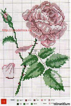 Схема для вышивки крестом Цветы - Розы.