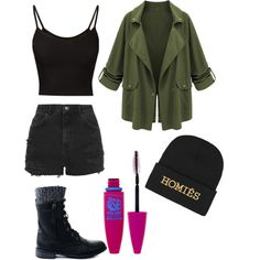 Rebel by swift22 on Polyvore featuring Topshop, Brian Lichtenberg and Maybelline