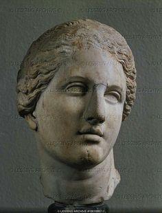 Praxiteles Goddess Aphrodite from the Aphrodite Temple on Knidos Greece original 4th BCE Roman copy Marble