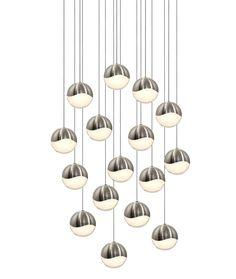 Grapes 16 Light Square Pendant | SONNEMAN - A Way of Light at Lightology