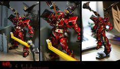 "Custom Build: 1/100 Gundam Astray Blue Frame Second L ""Red Devil"" - Gundam Kits Collection News and Reviews Astray Red Frame, Gundam Astray, Custom Decals, Devil, Color Schemes, News, Building, Blue, Collection"