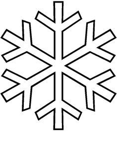 Patrón o Molde para hacer una manualidad de copo de nieve para Navidad en fieltro