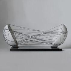 Anne Gates: Motivation Series, Eggshells embroidered with thread Art Sculpture, Abstract Sculpture, Pop Art, Textile Fiber Art, Guache, Conceptual Art, White Art, Installation Art, Ceramic Art