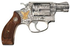 Image detail for -... Engraved Gold Inlaid Smith & Wesson Model 60 Double Action Revolver