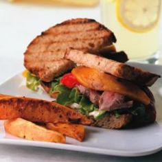 "Try our Bistro Flank Steak Sandwich tonight! Serve with Oven Fries and lemonade for a meal. One of our readers said this recipe ""was sooooo good and the flavors melded together so well!!"" @EatingWell"