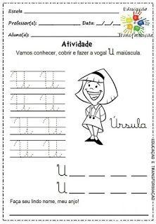 Atividades para Jardim: Vogais e encontros vocálicos Homeschool, Writing, Comics, Reading, Atv, Language Activities, Letter E Activities, Cursive Letters, Preschool