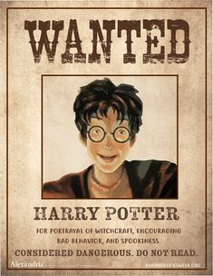 Banned Books Wanted Posters - Alexandria Library Automation Software Library Posters, Reading Posters, Book Posters, Library Books, New Books, Library Ideas, School Library Displays, Middle School Libraries, Elementary Library