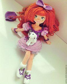 """Crochet doll / Коллекционные куклы ручной работы. Ярмарка Мастеров - ручная работа. Купить Интерьерная каркасная кукла """"Фигуристка"""". Handmade. Комбинированный"""
