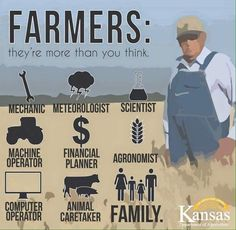 Farmers   They are more than you think... #Infographic #ag