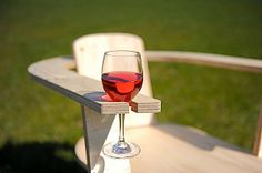 The Rose Chair: features a notch in the arm designed to hold a wine glass