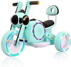 Kids Ride On Cars Electric Motor Car for Children Three-Wheel Toy Car Early Education Music+Flash Wheel Light Years Old Electric Motor, Electric Cars, Third Wheel, 6 Year Old, Kids Ride On, Early Education, Motor Car, Abs, Children