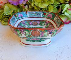 Vintage Chinese Rose Medallion Porcelain Bowl #2