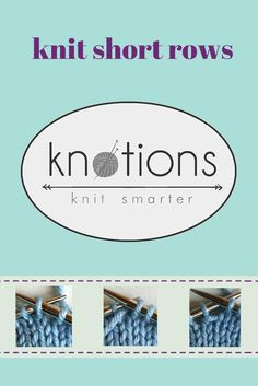 Learn the wrap and turn method for creating and picking up short rows. Knitting Short Rows, Knitting Help, Easy Knitting, Knitting Stitches, Knitting Patterns, Knitting Ideas, Stitch Patterns, Bamboo Knitting Needles, Disney Silhouettes