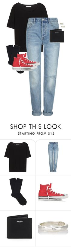 """Untitled #12296"" by alexsrogers ❤ liked on Polyvore featuring Acne Studios, Falke, Converse, Yves Saint Laurent and Ali Grace"