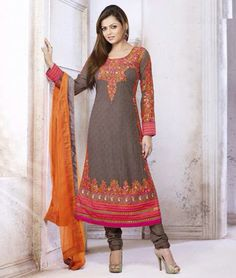 Buy Designer #DrashtiDhami #salwarkameez, #PartywearSuits online at best discounted rates.  Shop from the all new collection of Contemporary Designer Churidar Salwar Suits Collection  Click To Shop:- http://www.shoppers99.com/all_sales/contemporary_designer_churidar_salwar_suits_collection