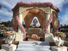 Truly luxurious! Photo by MPIRE, Mumbai #weddingnet #wedding #india #indian #indianwedding #mandap #mandapdecor #mandapdesigns #mandapdecoroutdoor #outdoorwedding #mandapideas #weddingdecor #decor #decorations #decorators #indianweddingoutfits #outfits #backdrops #llittlethings #flowers #flowersdecor