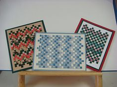 Creating Bargello Designs with Paper