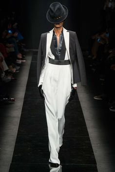 Emanuel Ungaro - Italian designer Fausto Puglisi has hit his stride at Emanuel Ungaro, this collection wowed. The black and white and the tailoring was perfection. Glad to see this brand come back to life! thestyleweaver.com Fall 2015 Ready-to-Wear