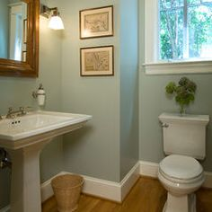 base molding - traditional powder room by Anthony Wilder Design/Build, Inc.