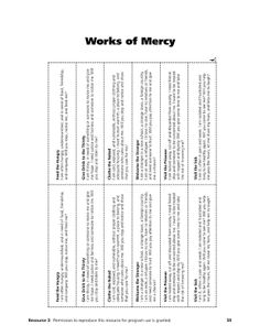 Corporal Works of Mercy Coloring | Mercy Works: The Hands-on Gospel