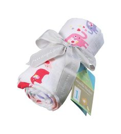 """Created from 100% bamboo muslin, these silky-smooth burp cloths are ideal for your baby's sensitive skin. Wonderfully soft, naturally absorbent and measuring a generous 12"""" x 22""""."""