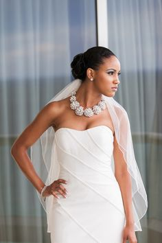 gorgeous bride. @aqualinaresort  photo by @dino_teme. Cendino Teme Photography. Necklace