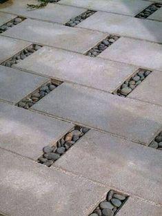 Resultado de imagem para zen garden river rock square pavers