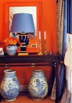 Mary McDonald orange bedroom
