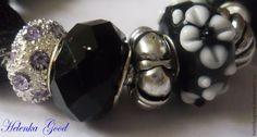 Купить К маленькому чёрному платью 67-2 Браслет Пандора - чёрный, браслет пандора