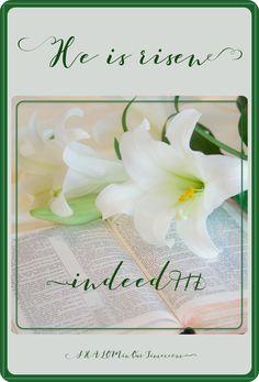 He is risen indeed!!!
