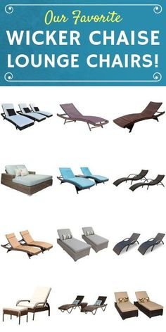 Discover the most popular and top rated wicker lounge chairs for your outdoor patio. Wicker chaise lounges are popular because they are beautiful and durable. Wicker Lounge Chair, Patio Furniture Cushions, Patio Lounge Chairs, Outdoor Wicker Furniture, Wicker Chairs, Outdoor Chairs, Simple Furniture, Room Accessories, Chaise Lounges