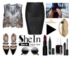 """""""http://www.shein.com/Black-Split-Slim-PU-Skirt-p-238435-cat-1732.html?utm_source=polyvore&utm_medium=contest&url_from=SKU:skirt151012050  1. use at least one certain items choosed by sheinside in their sets, and ADD SHEINSIDE LOGO , PUT LINK IN DESCRIPTIO"""" by fiorellaap ❤ liked on Polyvore featuring STELLA McCARTNEY, Zara, Alessandra Rich, Smashbox, Essie, women's clothing, women, female, woman and misses"""