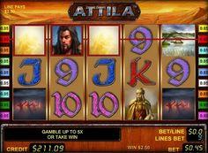 Pengespill spilleautomat Attila spille for penger. Den største helten av dette online spilleautomat er en kjent leder Attila. Han vil definitivt appellere til elskere av historie og ønsker å spille for ekte penger for å få store gevinster. Spilleautomaten har 5 hjul Attila og 9 gevinstlinjer. Også presentere Wild symboler og Scatter. I tillegg ble