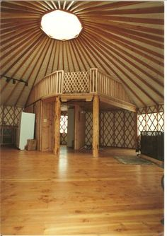 YurtInfo.org :: Yurt FAQ's - yurt loft idea. I love the idea of a loft inside for space efficiency.