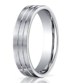 Palladium Men's Wedding Band | Parallel Cut