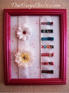 DIY Hair Clip Organizers at TheFrugalGirls.com #barrettes #organizers