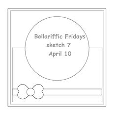 Stamping Bella Bellariffic Friday - A Sketch