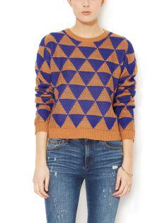 Geometric Crewneck Sweater by Isabel Lu at Gilt