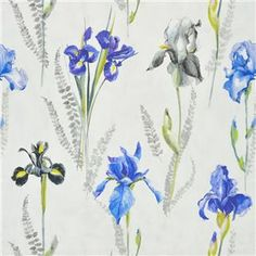 Designers Guild Iris Composition 100 Linen Width 137cm Weight 230 gsm Horizontal Pattern Repeat 137 cm Vertical Pattern Repeat 130 cm Pattern Match