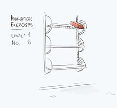 "Animation Exercise:Level 1No. 3 ""Brick falling from a shelf onto the ground"""