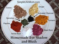 Homemade eye shadow and blush is very frugal. Use household items like cocoa powder, arrowroot powder, ginger, paprika, beet root. Make eye shadow or blush.