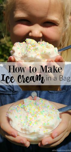 how to make ice cream in a bag - this is a super fun kids activity for summer, perfect for summer camp, birthday parties, even camping with kids!