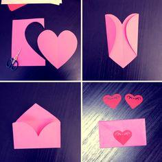 ♥ J-14 avant la Saint Valentin ! ♥  Je me suis assise avec mon fils la semaine dernière et nous avons fait des cartes de Saint-Valentin très faciles à réaliser…