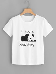 Shop Letter And Panda Print Tee online. SHEIN offers Letter And Panda Print Tee & more to fit your fashionable needs.