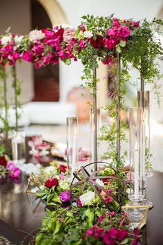 Moroccan Wedding Inspiration | Beautiful centerpieces from this wedding are so romantic!