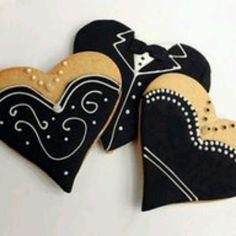 Elegant Formal Black Tie & Black Dress Cookies, Beautiful . . . .