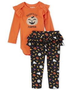 Baby Halloween Outfits, Baby Girl Fall Outfits, Baby Girl Halloween, Halloween Ideas, Holiday Clothes, Holiday Outfits, New Outfits, Kids Outfits, Baby Girls