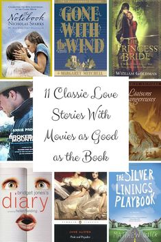 11 Classic Love Stories With Movies as Good as the Book - BookBub Books To Buy, I Love Books, Books To Read, My Books, Story Books, Good Romance Books, Teen Romance, Love Story Movie, Kids Reading