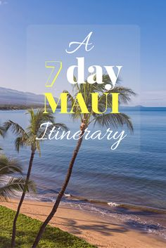 A 7 day itinerary for Maui especially for those staying in the South Side of Maui in Kihei or Wailea. http://www.ohanafun.net/blog/maui-south-side-7-day-itinerary/