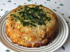 Kapustovo-zemiakový nákyp so slaninkou a údeným.